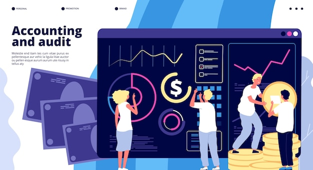 Accounting and audit landing page template