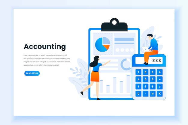 Accounting and audit vector template