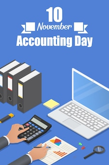 Accounting day banner