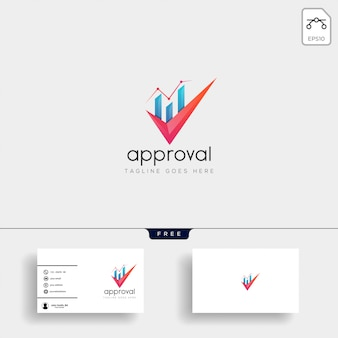 Accounting, finance creative logo template