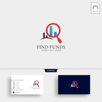 Accounting, finance creative logo template