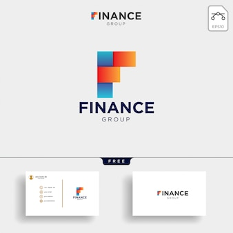 Accounting and financial logo template vector illustration