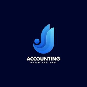 会計勾配カラフルなスタイルのロゴ