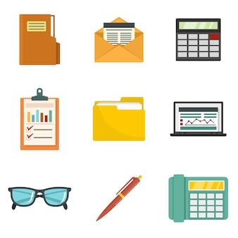 Accounting icon set