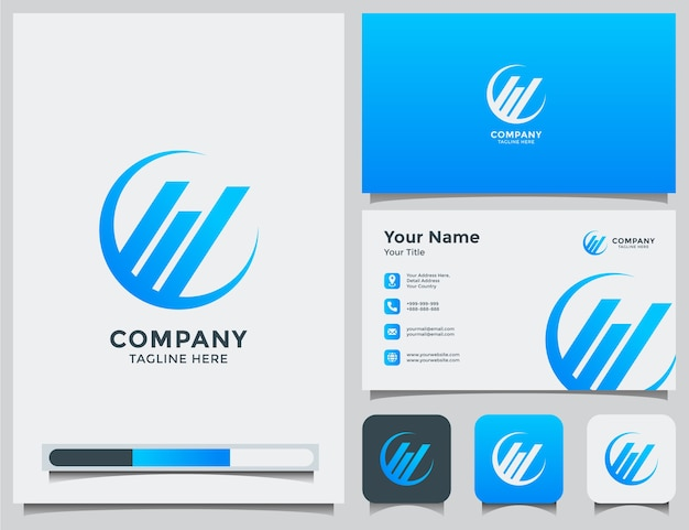 Accounting logo and business card
