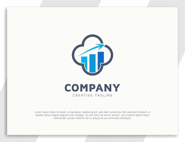 Шаблон дизайна логотипа бухгалтерского учета