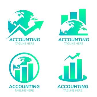 Accounting logo set in flat design