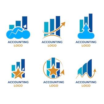 Логотип бухгалтерского учета в плоском дизайне