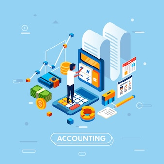 Accounting management and administration concept