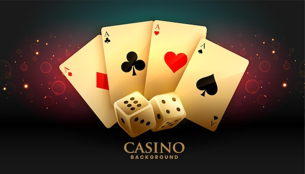 Ace cards and dice casino background