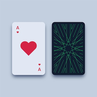 Ace of hearts playing card illustration
