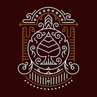 Ace of spades decorative ornament symmetry