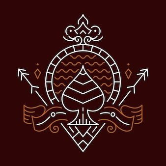 Ace of spades decorative ornament