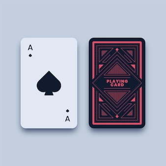 Ace of spades playing card illustration