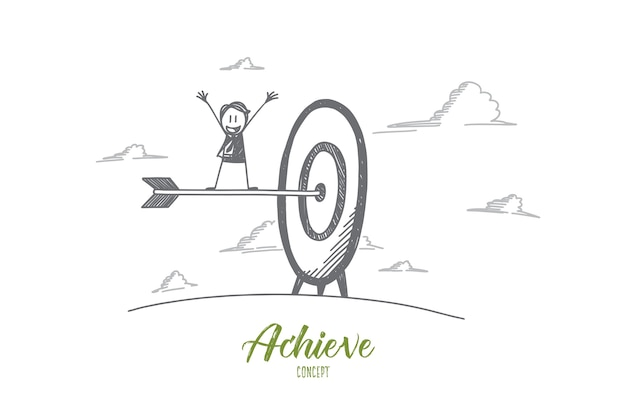 Achieve concept illustration