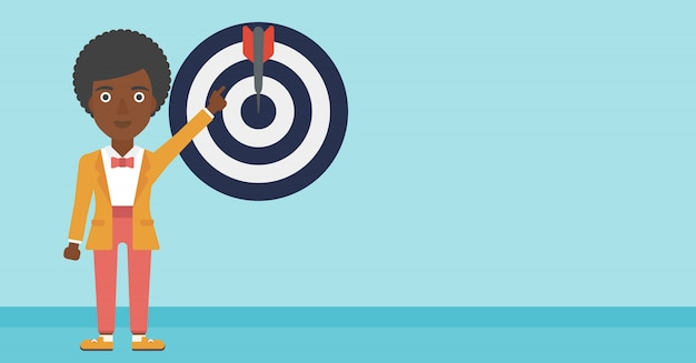 Achievement of business goal vector illustration.