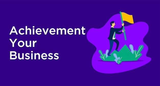 Achievement business illustration