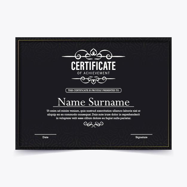 Achievement certificate best award diploma design