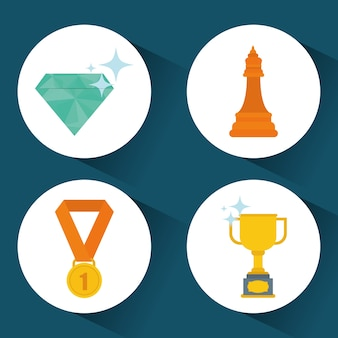 Achievement concept with icons design, vector illustration 10 eps graphic.