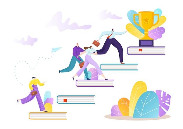 Achievement finance career and leadership illustration