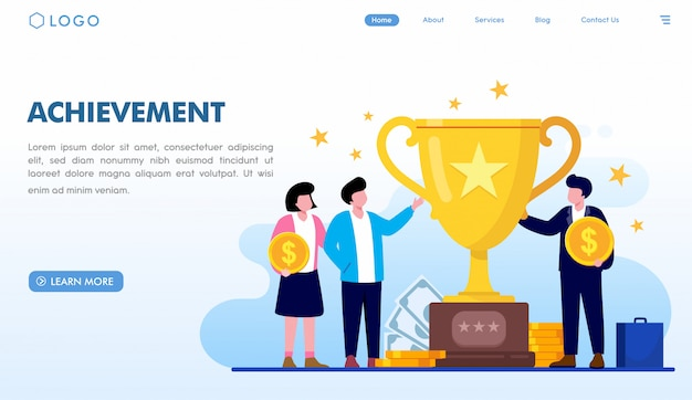 Achievement landing page template