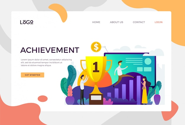 Achievement landing page
