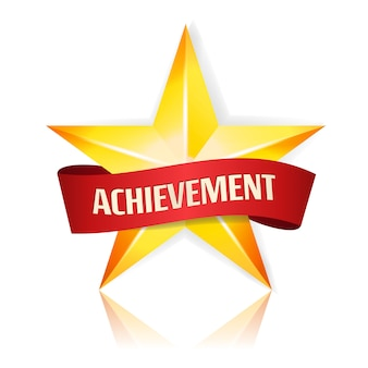 Achievement vector star