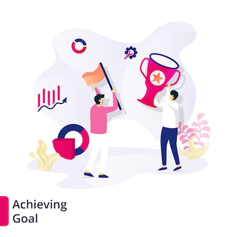 Achieving goal template