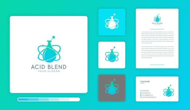 Acidブレンドロゴのデザインテンプレート