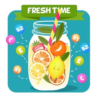 Sfondo di succo di frutta acida