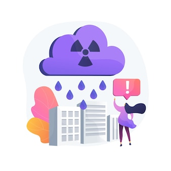 Acid rain abstract concept   illustration. acid precipitation component, water acidification problem, ph of rainwater measurement, harmful effect, toxic rain, atmosphere