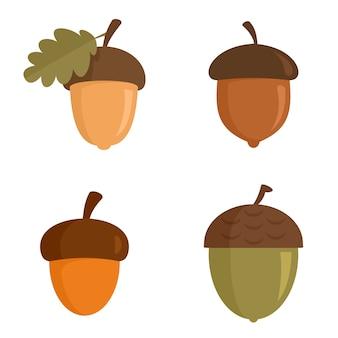 Acorn icons set