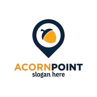 Дизайн логотипа acorn point