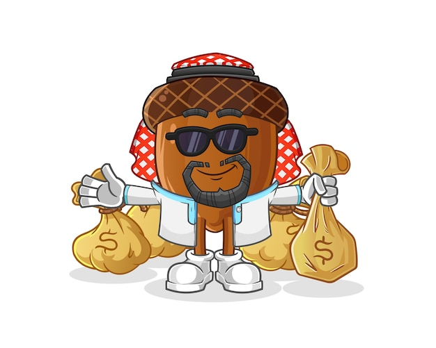 Желудь богатый арабский талисман мультипликационный персонаж