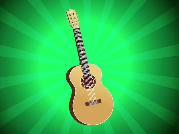 Acoustic classic guitar concert vector