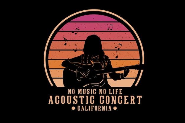 Acoustic concert silhouette design