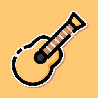 Acoustic guitar cartoon design
