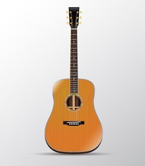 Акустическая гитара кедровый дредноут изолированные