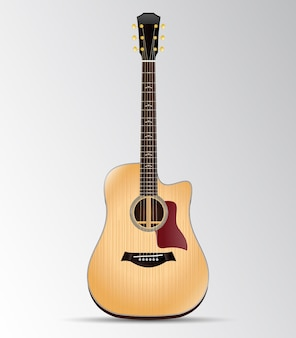 Акустическая гитара вырез дредноут изолированные