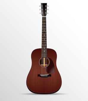 Акустическая гитара дредноут из красного дерева изолированные