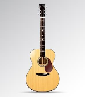 分離されたアコースティックギターオーケストラモデル