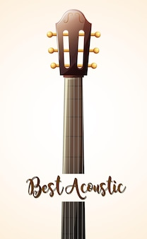 Acoustic guitar with word best acoustic