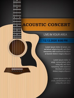Acoustic music festival concert flyer poster design template