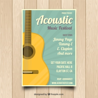 Acoustic music poster