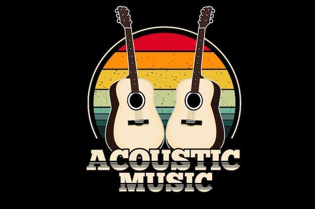 Acoustic music vintage retro design