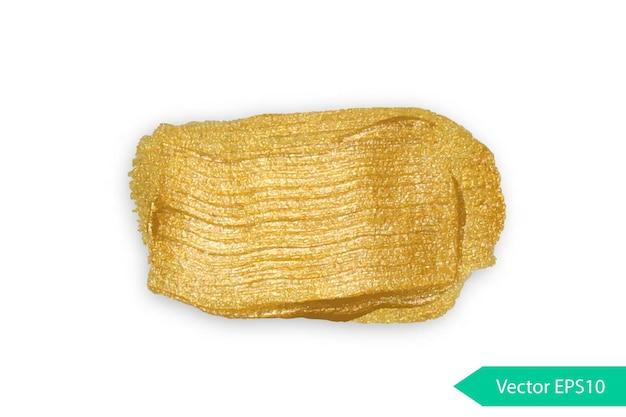 Акриловая краска текстура stane dub золотой акриловый мазок кисти изолированные гранж формы золотой масляный всплеск
