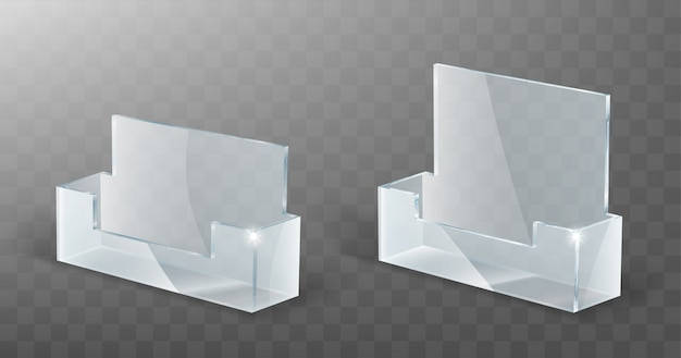 Acrylic card holder, glass plastic display stand