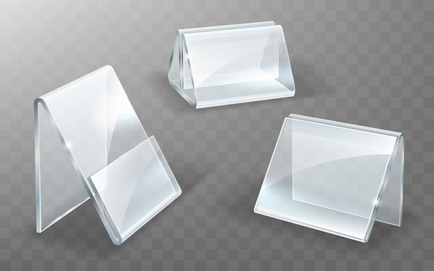 Acrylic holder, glass or plastic display stand