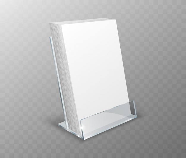 Acrylic holder, table display with blank cards