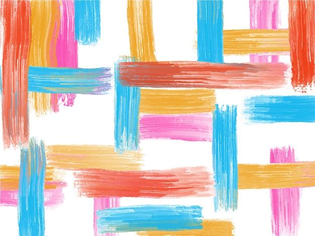 アクリル、油絵の具のブラシストロークの背景